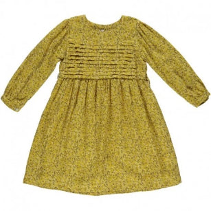 Les Enfants de Gisele Mustard Flower Print Fanny Girl Dress 4-10 years - Eat Play Love