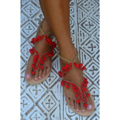Lulu Sandals Red - Eat Play Love