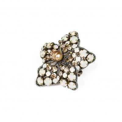 Tataborello Flower Ring White - Eat Play Love