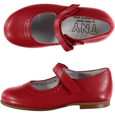Mary Janes with Velcro Red - Eat Play Love
