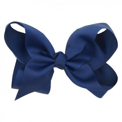 Glammrags Navy Big Bow Clip - Eat Play Love