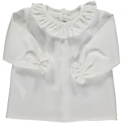 Blouse with Volant collar - Eat Play Love