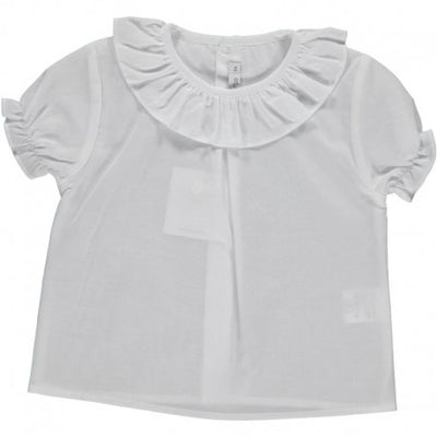 Blouse Volant Collar Short Sleeve - Eat Play Love