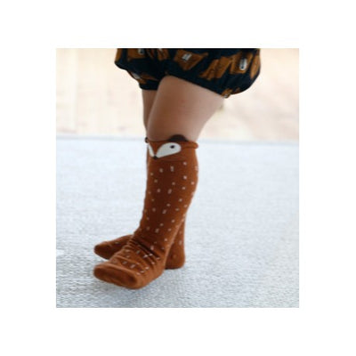 Mini Dressing Brown Knee Socks Fox 1-6 years - Eat Play Love