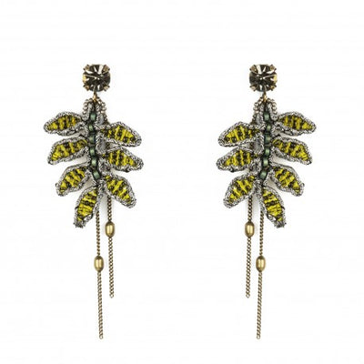 Tataborello Leaves Earrings Gold - Eat Play Love