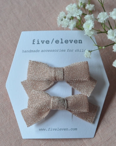 five/eleven Japanese Bows Powder Glitter - Eat Play Love