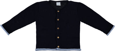 Navy Cardigan with wooden buttons - Eat Play Love