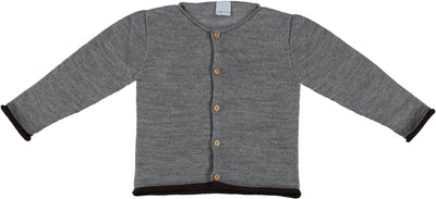 Grey Cardigan with wooden buttons - Eat Play Love