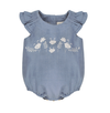 Bonnet a Pompon Chambrey Romper - Eat Play Love