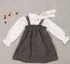 Paloma de la O Grey Brace Houndstooth Girl Dress 2-6 years - Eat Play Love