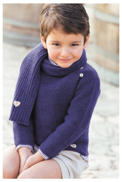 Paloma de La O Navy Boy Sweater 18m-4 years - Eat Play Love