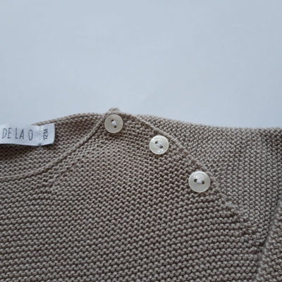 Paloma de la O Beige Knitted  Boy jumper 12m to 4yo - Eat Play Love