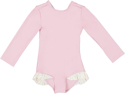 Canopea Misha SPF50+ swimsuit long Sleeve Pink Dragee 2 to 6y - Eat Play Love
