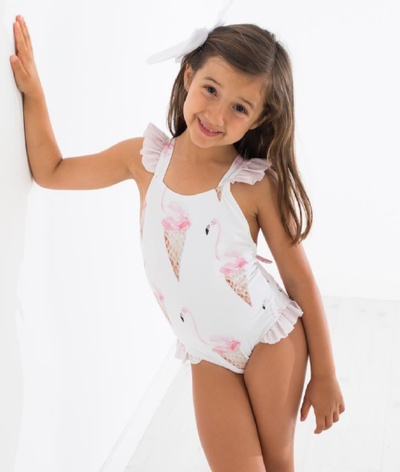 Meia Pata Swimsuit Icecream Ruffels - Eat Play Love