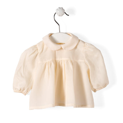 Wedoble Baby Blouse Cream - Eat Play Love