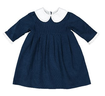 Colettine Blue Navy Garance Christmas Girl Dress with Peter Pan Collar 18m-8 years - Eat Play Love