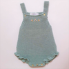 Paloma de la O Green Knitted Girl Romper 3m to 2yo - Eat Play Love