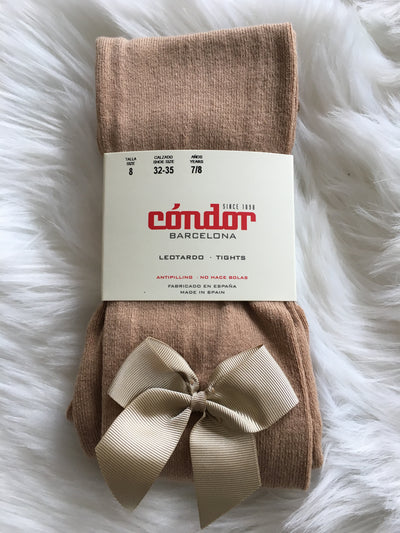 Condor Camel Tights with Bow - Eat Play Love