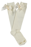 Condor Knee Socks with Bow Cream - Eat Play Love