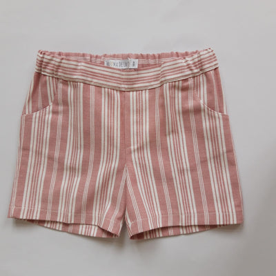 Paloma de la O Red White Striped  Boy Short 18m to 4yo - Eat Play Love