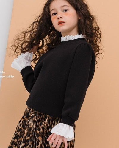 Lace Collar Sweater MINI - JUNIOR - Eat Play Love