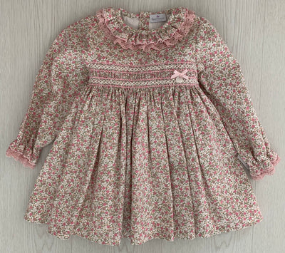 Laivicar Pink Liberty Smocks Girl Dress 12m-8 years - Eat Play Love