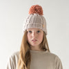 Pom Knitted Hat Pale Pink - Eat Play Love