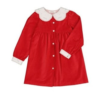 Colettine Red Velvet Christmas Girl Dress 3-8 years - Eat Play Love