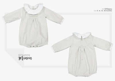 Colettine Grey Baby Romper Manon 6-18 months - Eat Play Love