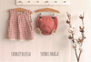 Paloma de la O Red Beige Check Girl Blouse 12m to 4yo - Eat Play Love