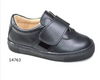 BOY SCHOOL SHOES BLACK LEATHER VELCRO STRAPS - Eat Play Love