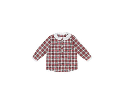 Colettine Red Tartan Christmas Boy Shirt Natalicia 3-8 years - Eat Play Love