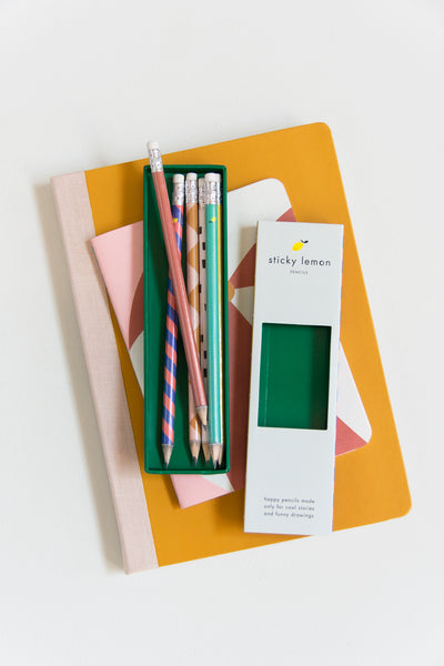 Sticky Lemon Pencils Set - Eat Play Love
