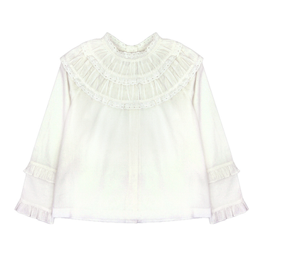 Bonnet a Pompon White Blouse - Eat Play Love