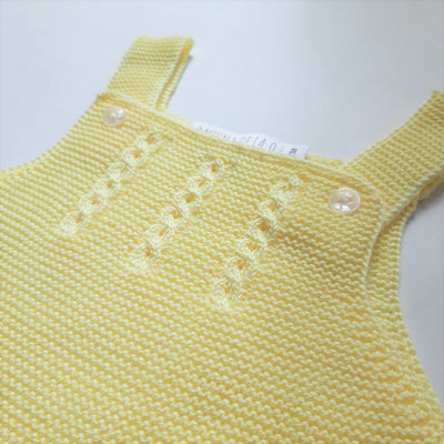 Paloma de la O Yellow Knitted Romper Girl or boy 3m to 2yo - Eat Play Love