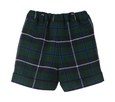 Navy Tartan Shorts - Eat Play Love