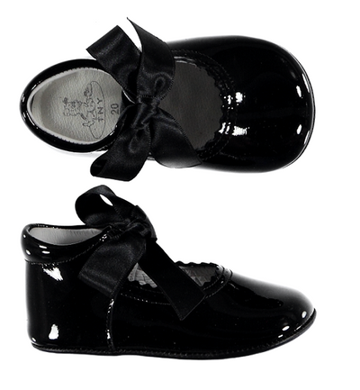 Baby Shoes Black Patent - Eat Play Love