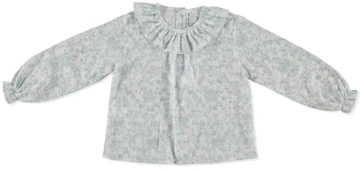 Paloma de la O Blouse Flower Blue - Eat Play Love