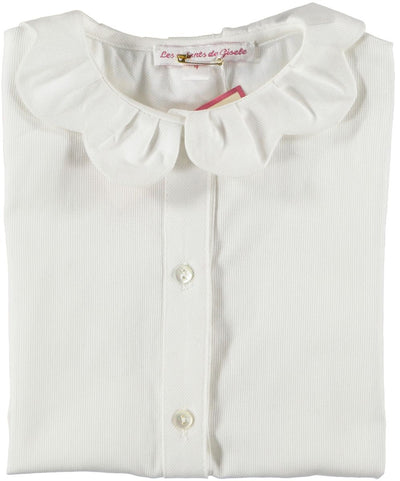 Blouse with Scallop collar - Eat Play Love
