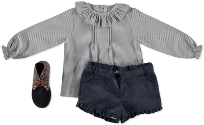 Paloma de la O Corduroy Shorts Blue - Eat Play Love