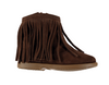 Brown Suede Fringe Girl Boots - Eat Play Love
