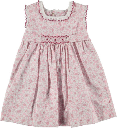 Smock Dress Pink Flower - Eat Play Love