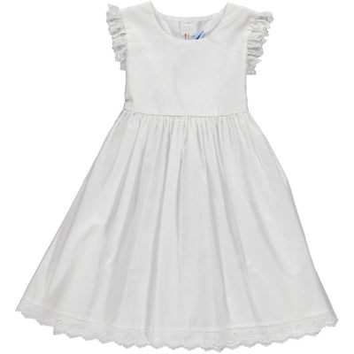 White Cotton Dress - Eat Play Love