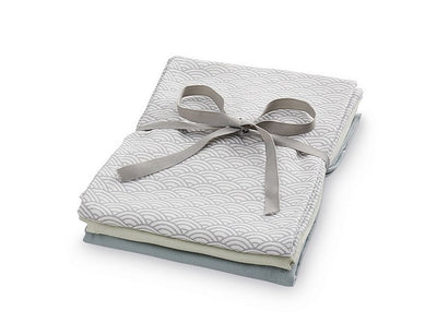 CamCam Copenhagen Muslin Cloths Set 3x Grey - Eat Play Love