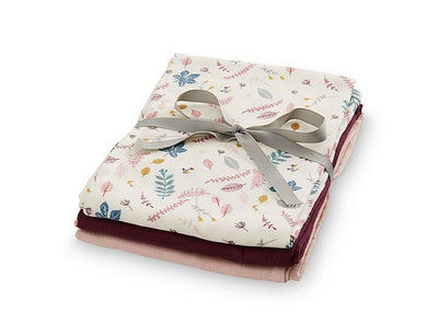 CamCam Muslin Cloths Set 3x Rose - Eat Play Love