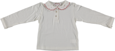 Polo Shirt Dotted Collar Red - Eat Play Love