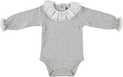 Romper Grey Lace Collar - Eat Play Love