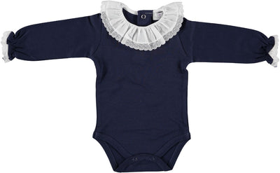 Romper Navy Lace Collar - Eat Play Love