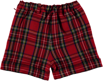 Red Tartan Shorts - Eat Play Love