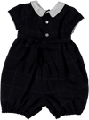 Smock Romper Navy - Eat Play Love